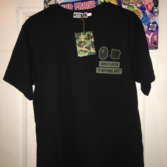 2bb2cdfb bape Shirts | Exclusive X Undefeated T Shirt | Poshmark